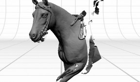 Horse & Rider Laser Scan in progress